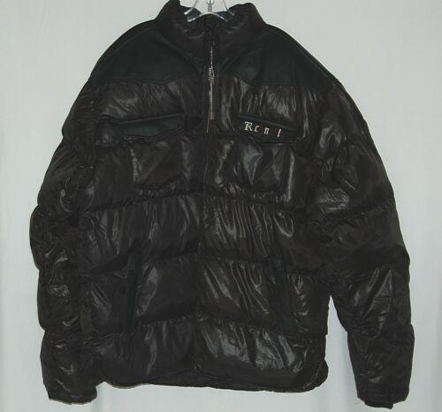 Rich N Fly RF1010 Black 4XL Puffy Coat Heavy Duty Zipper