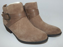 Earth Peak Porter Size 10 M EU 42.5 Women's Bootie Suede Strap Ankle Boots Brown - $59.35