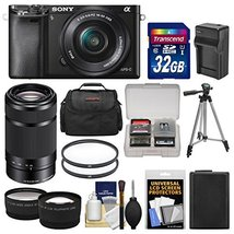Sony Alpha A6000 Wi-Fi Digital Camera & 16-50mm & 55-210mm Lens with 32G... - $761.31