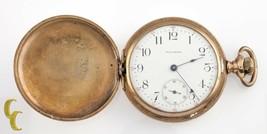 Waltham Antique Full Hunter Gold Filled Pocket Watch Gr 610 Size 16 7 Jewel - $517.76