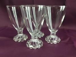 "4  Anchor Hocking Boopie Berwick Stem WINE/JUICE GLASSES 4 1/2""  Bead Ba... - $12.99"