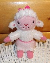 "Doc McStuffins Disney Lamb Fuzzy Plush 9"" LAMBIE in Pink Net Skirt - $5.79"