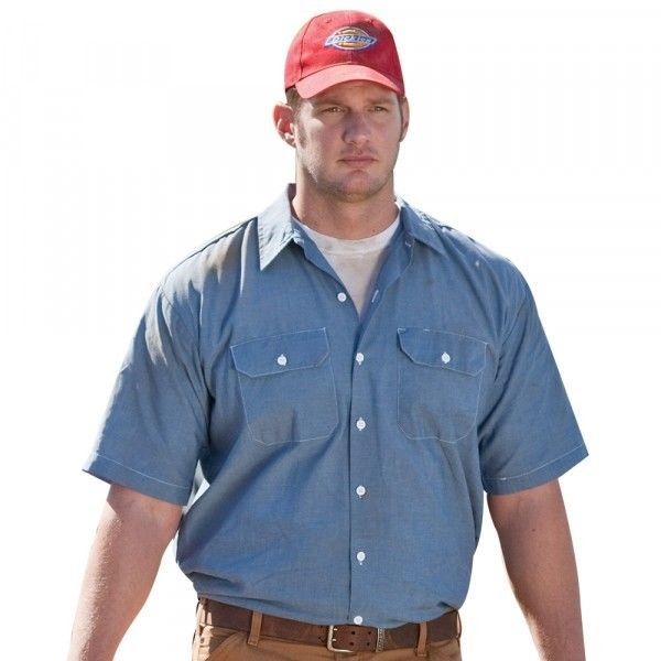 Primary image for Dickies Classic Men's Short Sleeve Chambray Shirt in Small to 3XL