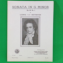 1927 Art Publication Society Teacher's Library Sheet Music, #553, Beethoven - $2.95