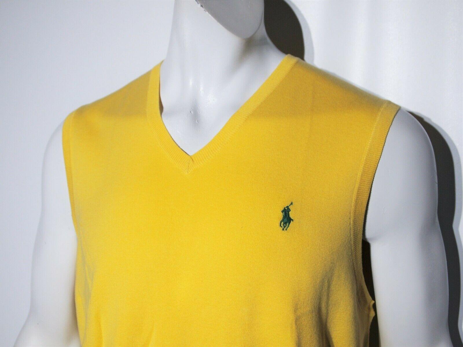 Polo Ralph Lauren men's pima cotton sweater vest size xl  slim fit image 2