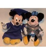 DISNEY -  Mickey & Minnie Plush  grad nite 2000 and 2003 bean bags - dis... - $12.00