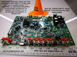 """ILO 42"""" PDP4210EA1 Main Board 771E42D103-01 [SN: 60033880] - $46.00"""
