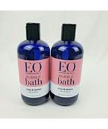 2X EO Essential Oils Bubble Bath Rose & Lemon Be Lovely 12oz each - $39.95