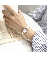 Ulzzang® Simple Small Dial White Female Retro Watches Vintage Leather - $8.61