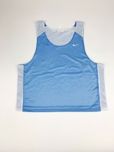 New Nike Men's L/XL Reversible Mesh Lacrosse Tank Baby Blue / White UNC TarHeels - $8.25