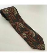 Laura Pearson Italy Neck Tie Cuban Cigar Aficionado Design Italian Silk - $15.78