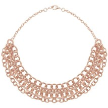 Karine Sultan 4 Tier Chain Statement Necklace in Rose Gold-Plate or Silver-Plate - $69.95