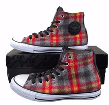 Converse by Woolrich Chuck Taylor All Star Sneakers Red/Yellow Plaid Woo... - $32.00