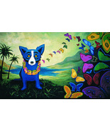 George Rodriguez Art oil painting printed on canvas home decor Blue Dog   - $16.99