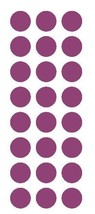 "PLUM 1"" Round Stickers Color Code Inventory Label Dot Stickers Package Seals - $1.49+"