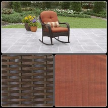Outdoor Rocking Chair With Cushions Patio Garden Porch Wicker Furniture ... - $120.50