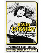 David Cassidy Live Portland Oregon March 27,1971 Counter Top Stand-Up Di... - $16.99