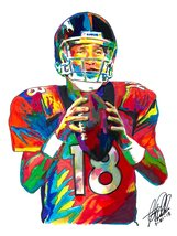 "Peyton Manning, Denver Broncos, Quarterback, Football, 18""x24"" Art Print 2 - $19.99"