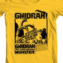 Ghidrah three-headed monster t-shirt Godzilla Monster King Ghidorah gold retro image 2