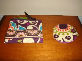 Vera Bradley Plum Crazy Coin Purse & Pocket Mirror - $35.99