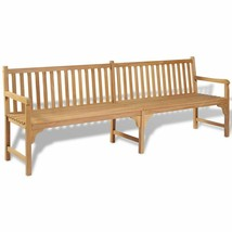 "vidaXL Teak Outdoor Bench 94.5"" Patio Chair Backyard Seat Garden Furniture - $332.99"