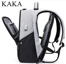 Men Backpack Business Travel Backpack Bag Oxford USB 15.6 Inch Laptop Ba... - $65.44