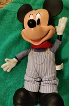 Disney Mickey Mouse Clubhouse Talking Train Conductor Pull String Engine... - $21.21