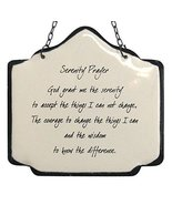 America Retold Ivory with Black Enamel Wall Decor Sign Serenity Prayer Q... - $34.64