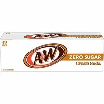 A&W Cream Soda Zero Sugar (pack of 12) - $22.72