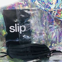 Slip Silk (On Both Sides!) Face Covering BLACK Excellent To Avoid Face Touching image 2