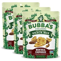 Bubba's Fine Foods Montreal Chophouse Paleo Snack Mix, 4 Ounce Pack of 3 | Grain