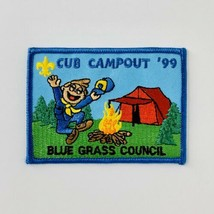 """BSA Boy Scout Patch Blue Grass Council Cub Campout 1999 NOS 3.5"""" x 2.5""""  - $9.50"""
