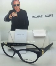New Michael Kors Eyeglasses Tabitha Vii 8017 3099 Black And Gold Glitter Frames - $239.98
