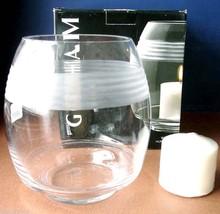 "Gorham Deco Wave Hurricane Large Candle Holder 8""H Crystal Multi Functio... - $18.90"