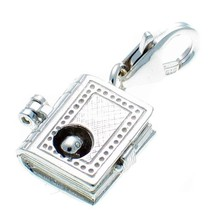Welded Bliss Sterling 925 Silver Clip On Charm Book Opening to Bookworm.... - $27.44