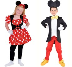 GIRLS  - Deluxe Mini Mouse Costume  - ages 3 to 14 - $27.72+