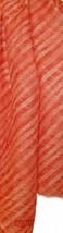Armani Collezioni Orange Stripes Logo Unisex Men Woman Linen Scarf  NEW - $98.75