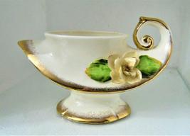 Vintage Pretty Lefton Floral Vase or Planter Vintage Wedding Centerpiece~d4 - $14.95