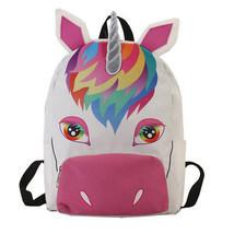 2018 Unicorn Children Backpacks Canvas Cartoon Girls School Bags Schoolbags - $519,38 MXN