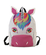 2018 Unicorn Children Backpacks Canvas Cartoon Girls School Bags Schoolbags - $454,55 MXN