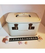 Vintage Train Makeup Case Suitcase 50s Luggage Hardside Jacque Cotter Bu... - $26.84