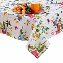 Benson Mills Spring Tablecloth with Butterflies, Wild Flowers and Blosso... - $51.00