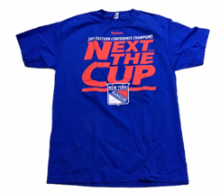 New York Rangers NHL 2014 Conference Champions Hockey Shirt Sz M Next The Cup - $32.66