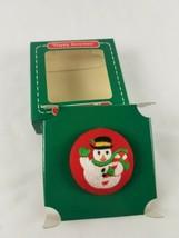 Hallmark 1985 Stitchery Embroidery Pin Happy Snowman  - $6.88