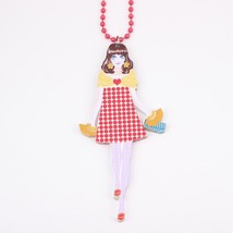 unique new 2016 acrylics cute girls chain colorful lovely figures fashion neckla - $13.56