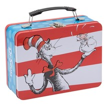 Dr. Seuss Characters Plus Cat In The Hat Large Carry All Tin Tote Lunchb... - $14.96