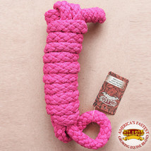 """Hilason Horse Riding Poly Lead Rope Pink  1/4"""" X 8 Ft. U-H368 - $15.99"""