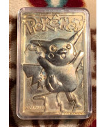 1999 Pikachu Pokemon Gold Plated Card In Case RARE - $29.38