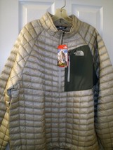 THE NORTH FACE MENS THERMOBALL PULLOVER ACTIVE FIT GREY JACKET XXL  NEW ... - $129.95