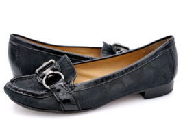 Coach Womens 5.5B Black Elkie A2329 Comfort Buckle Slip On Loafer Shoes - $34.99